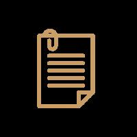 Icono de papel con clip